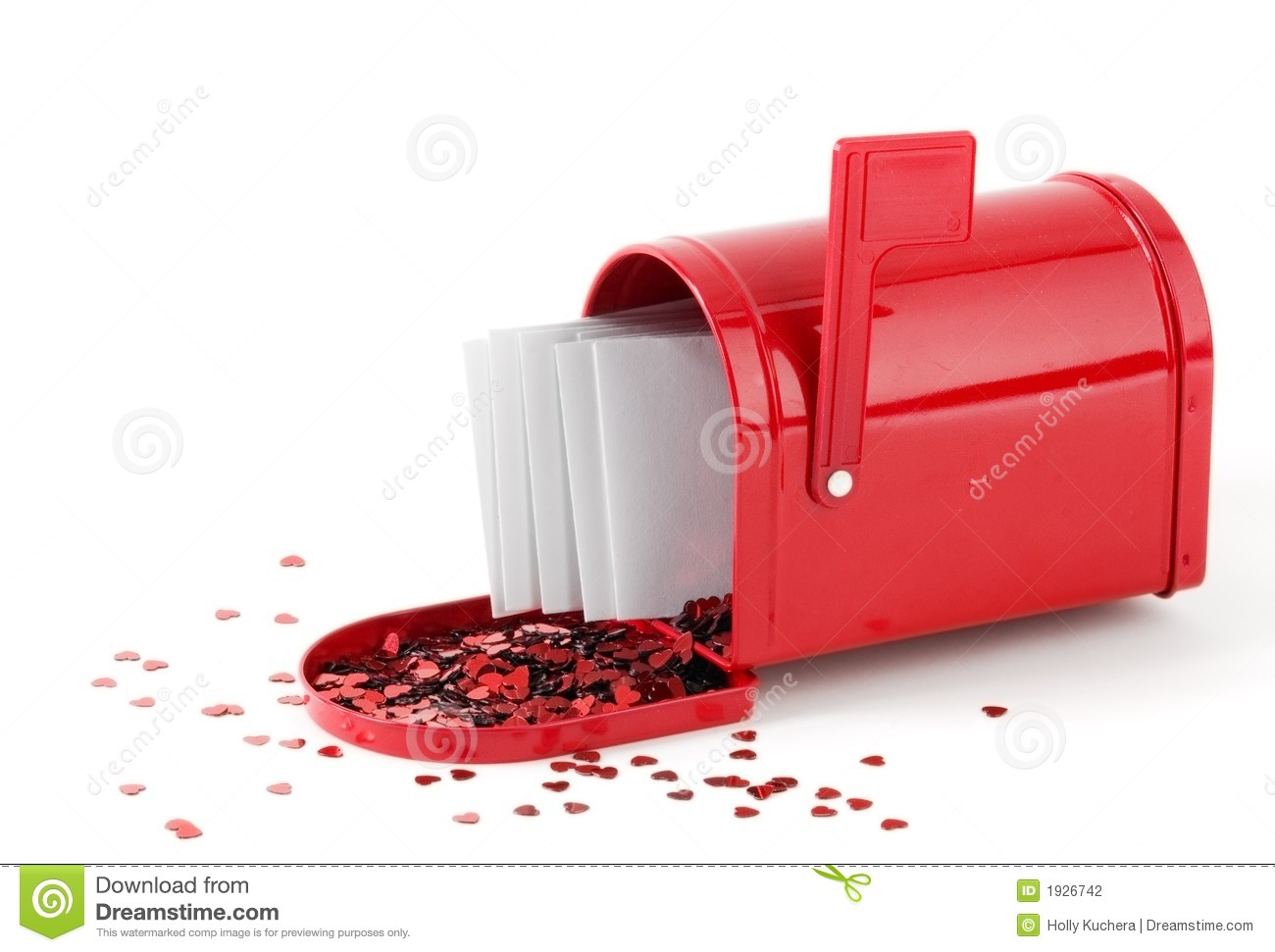 Love Letters In Mailbox Stock Photo Image Of Valentine