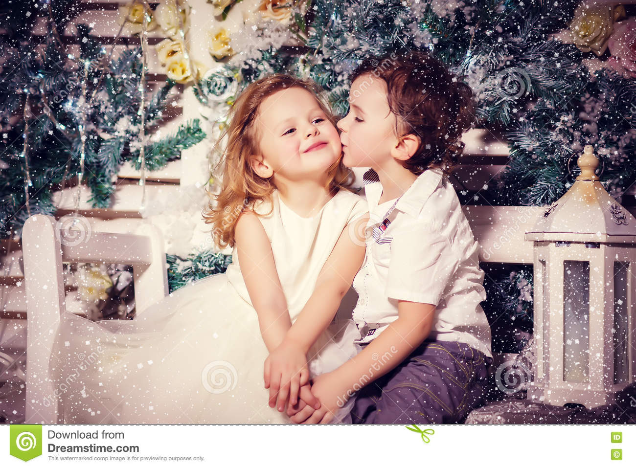 love of little boy and girl stock image image of cute female