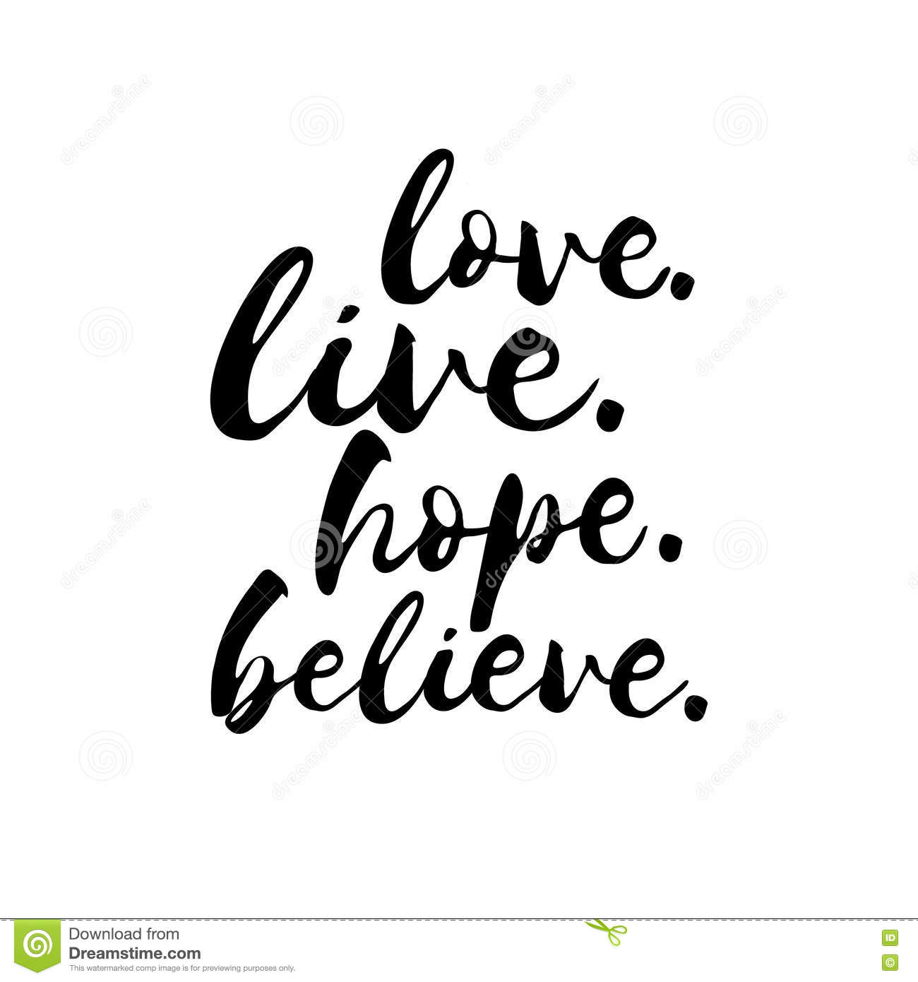 love live hope believe inspirational valentines day romantic