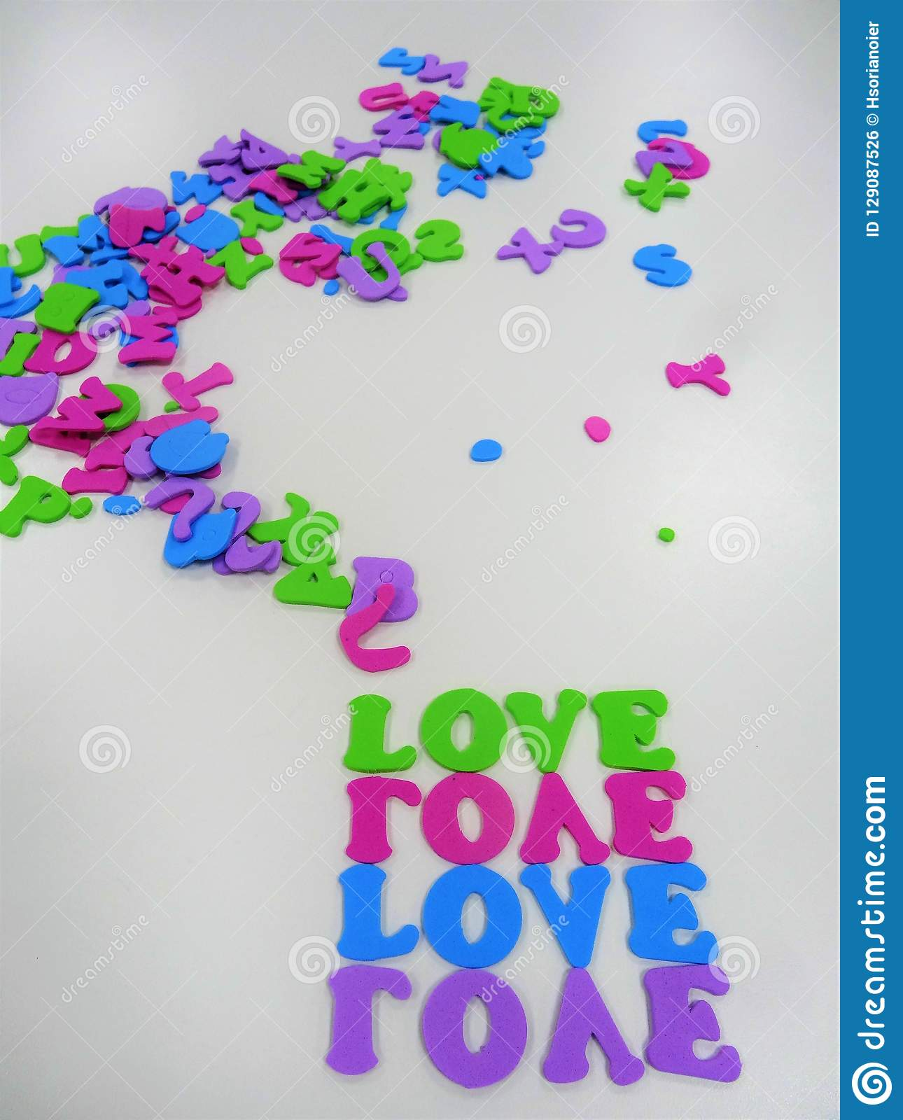 Love Frame For Writting A Message Space For Writting Stock Photo