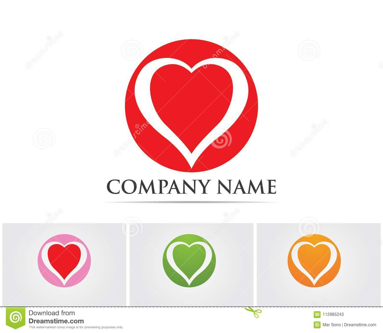 Love Logo and symbols Vector Template icons app..