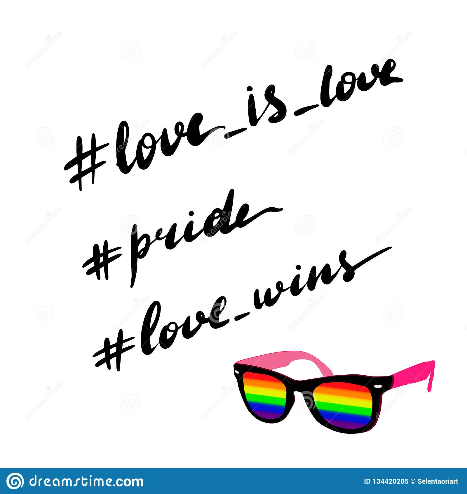 Love Is Love Pride Love Stock Vector Illustration Of Banner