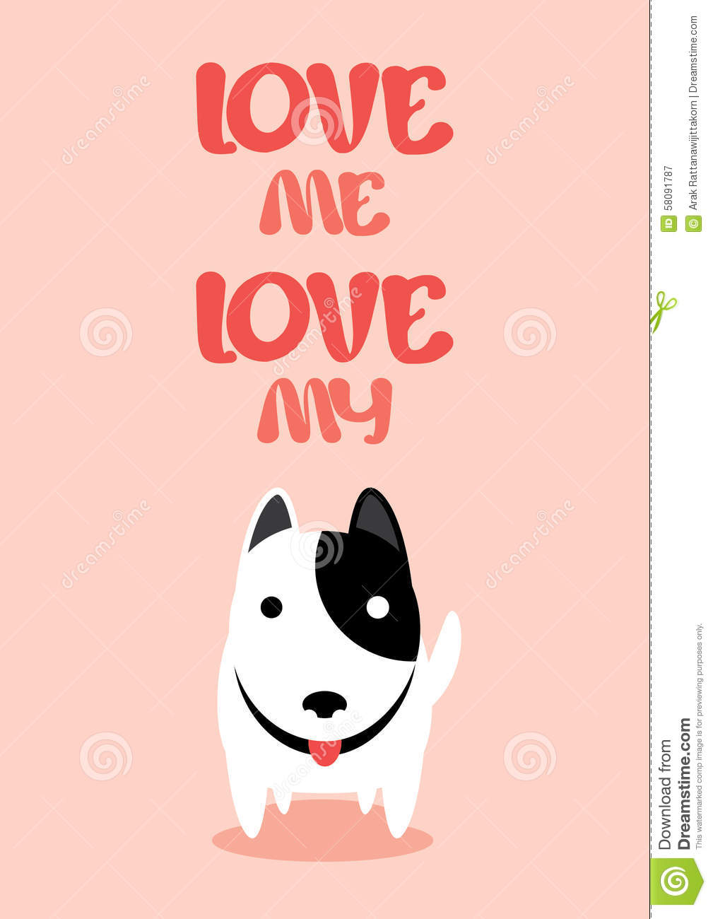 Love Me Like You Do Dvd Blu Ray Oder Vod Leihen: Love Me Love My Dog Vector. Stock Vector