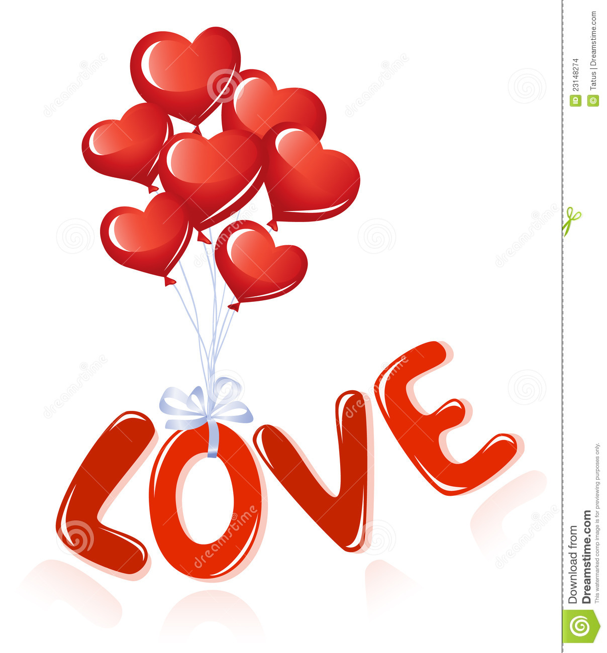 Love Message With Heart Balloons Stock Images - Image: 23148274