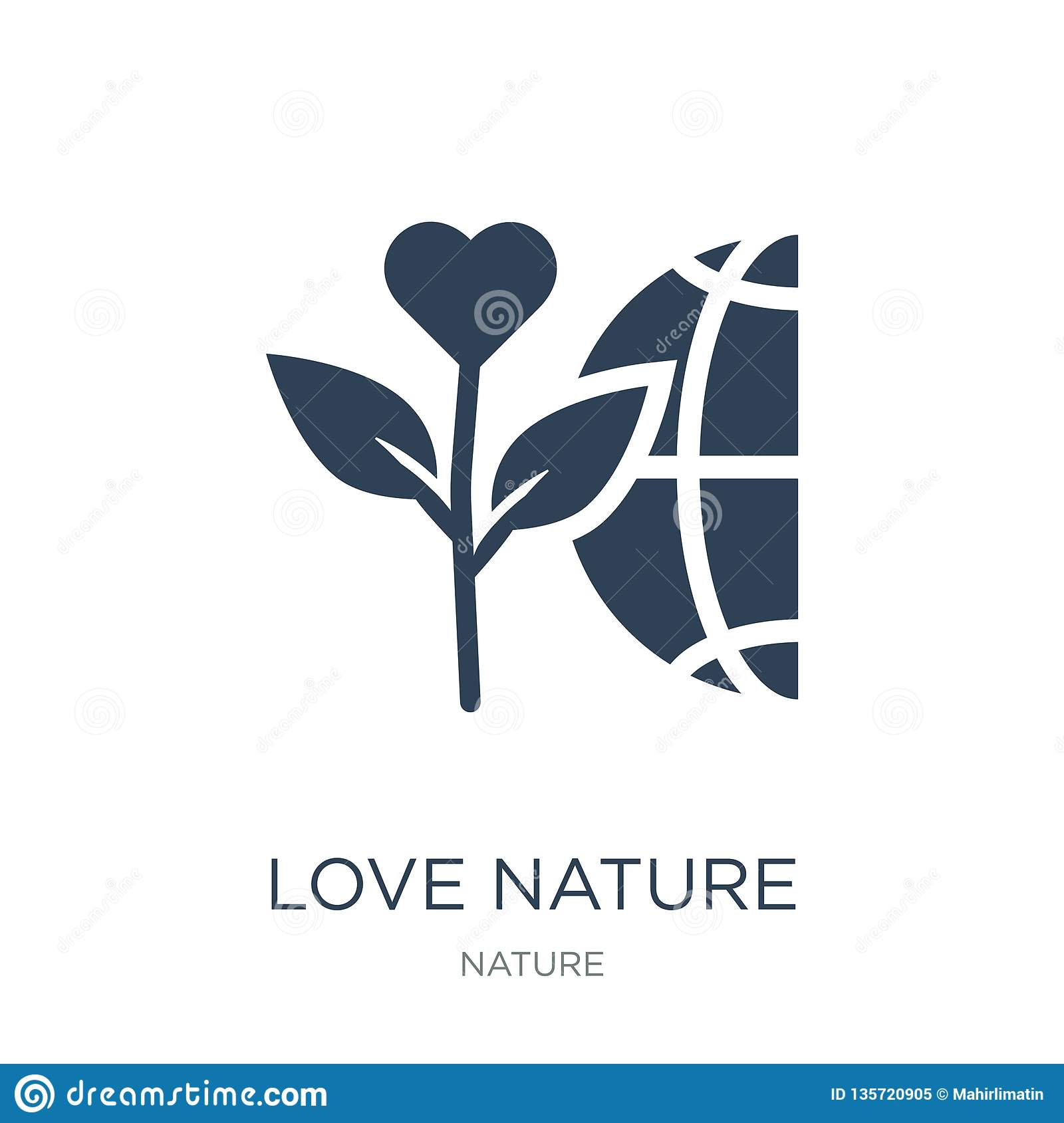 love nature icon in trendy design style. love nature icon isolated on white background. love nature vector icon simple and modern