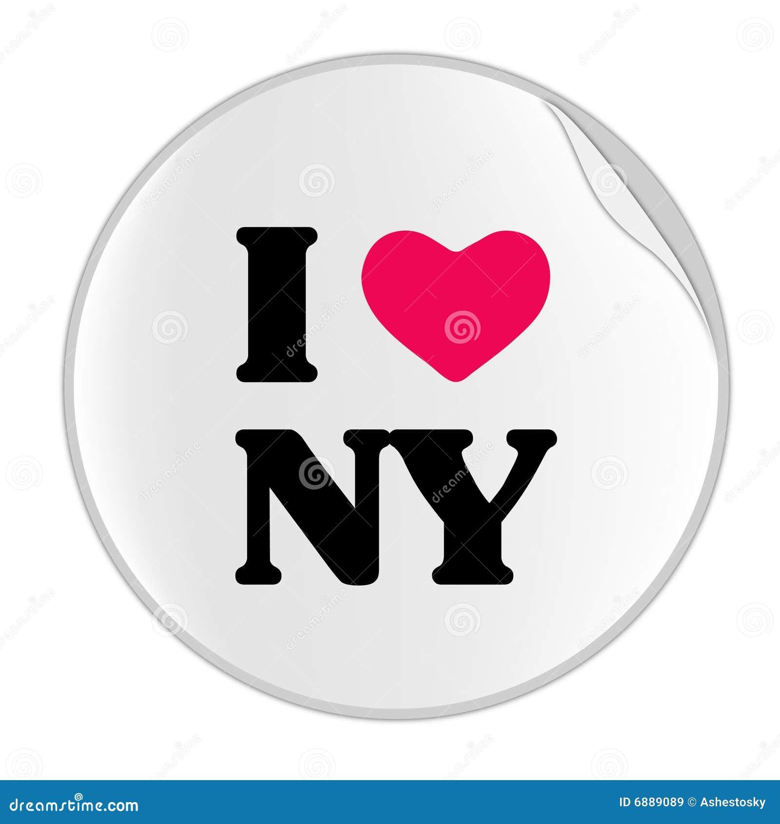 Love New York Sticker Sticker Series Stock Vector Illustration