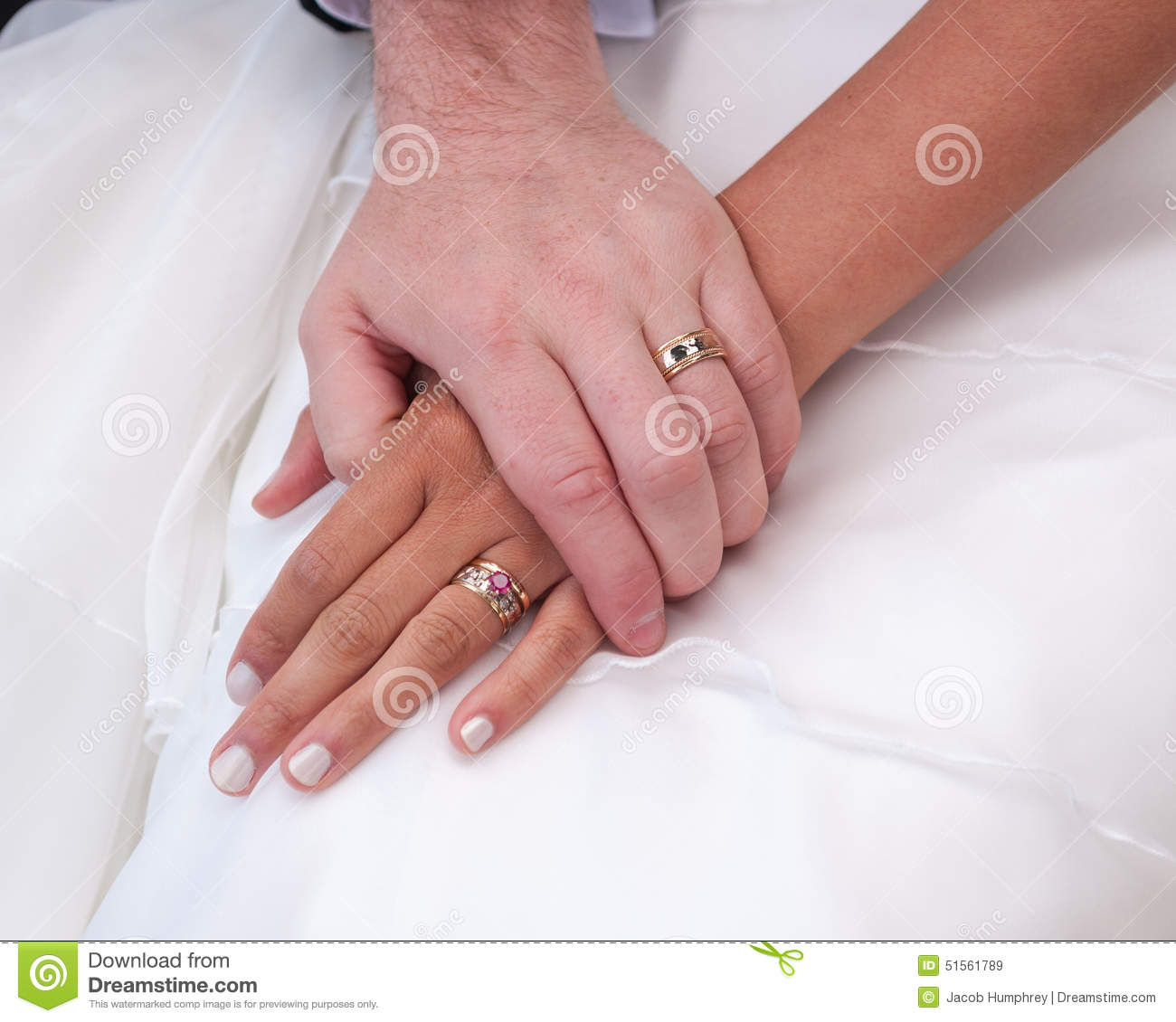 Love. Newly Weds Holding Hands After Wedding Stock Image - Image of ...