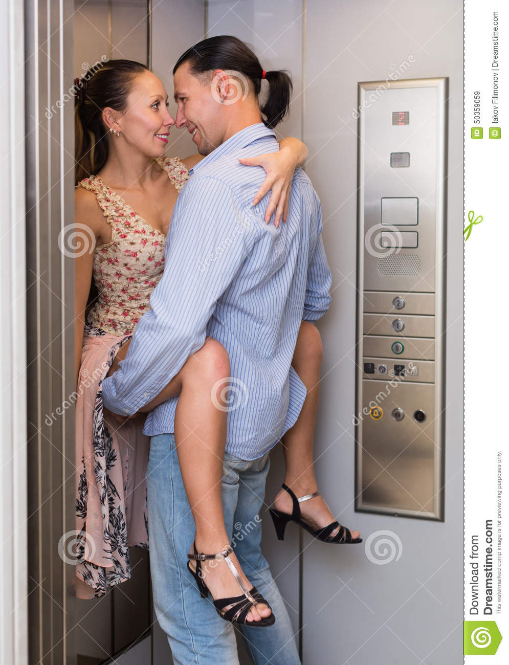 Love At Office Lift Stock Photo - Image 50359059-7799