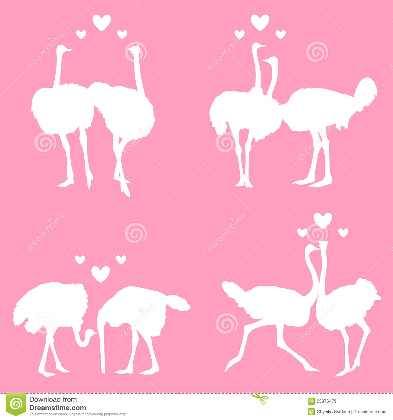 In love ostriches