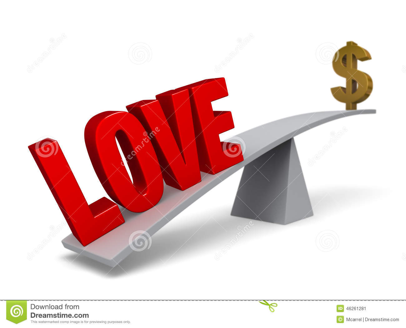 Image Gallery love money balance