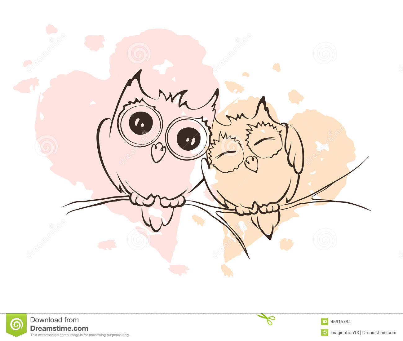 pink owl cartoon