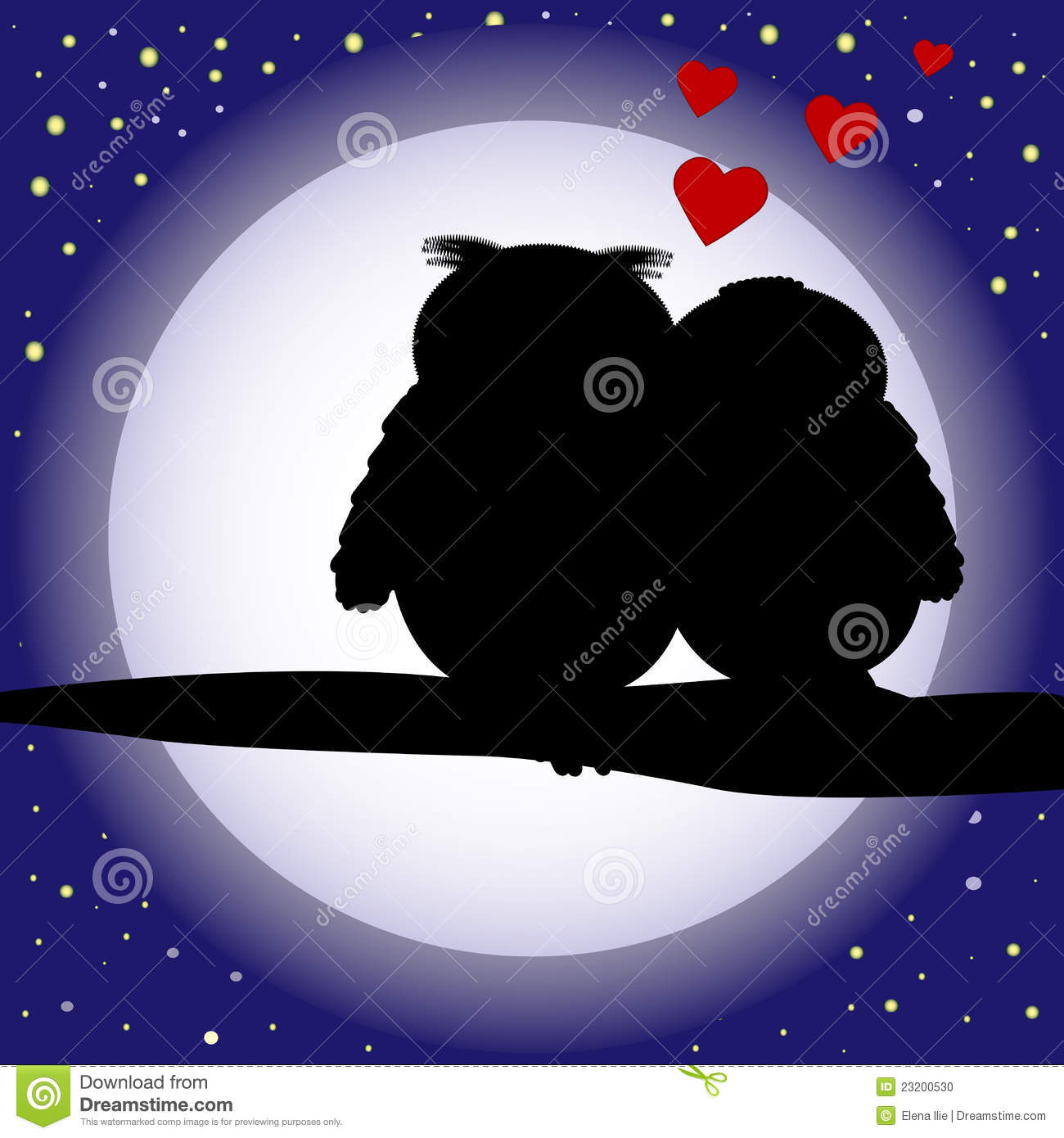 More similar stock images of ` Love owls silhouette background `