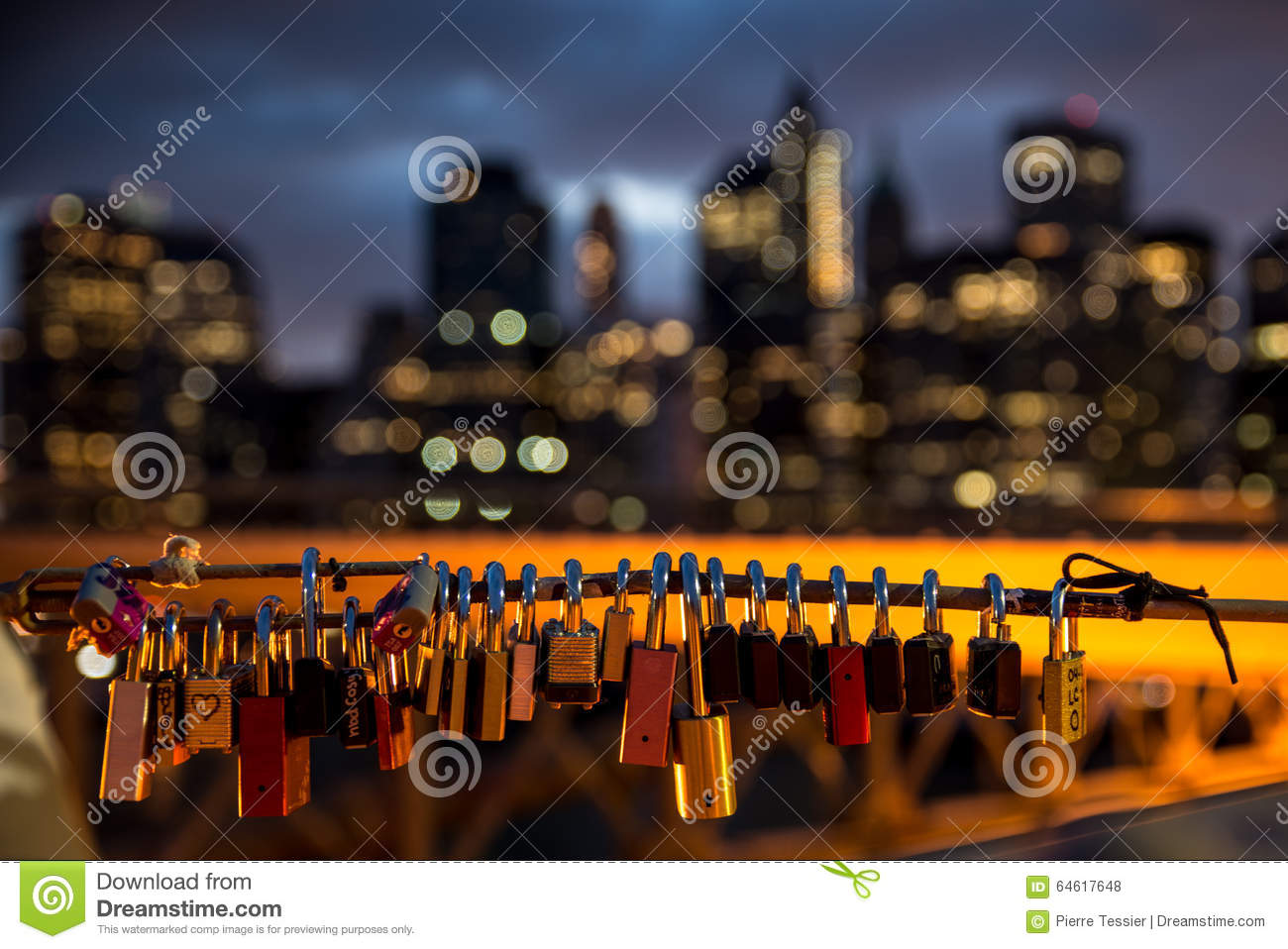 Love Padlocks With City As A Background Stock Photo ...