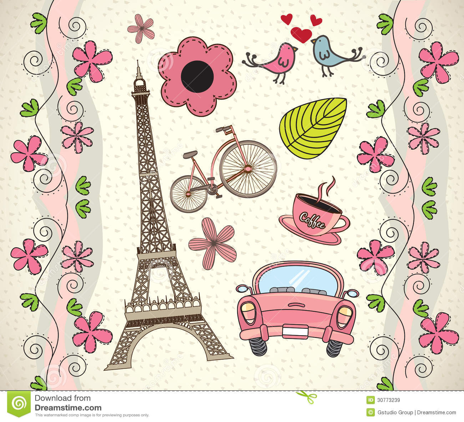 Love Paris Royalty Free Stock Images Image 30773239