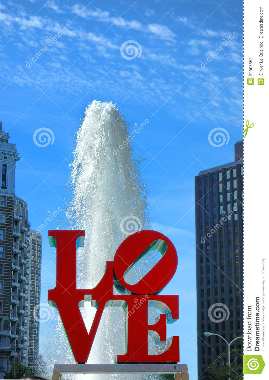 Love Park At Jfk Plaza Philadelphia Pennsylvania Editorial Stock