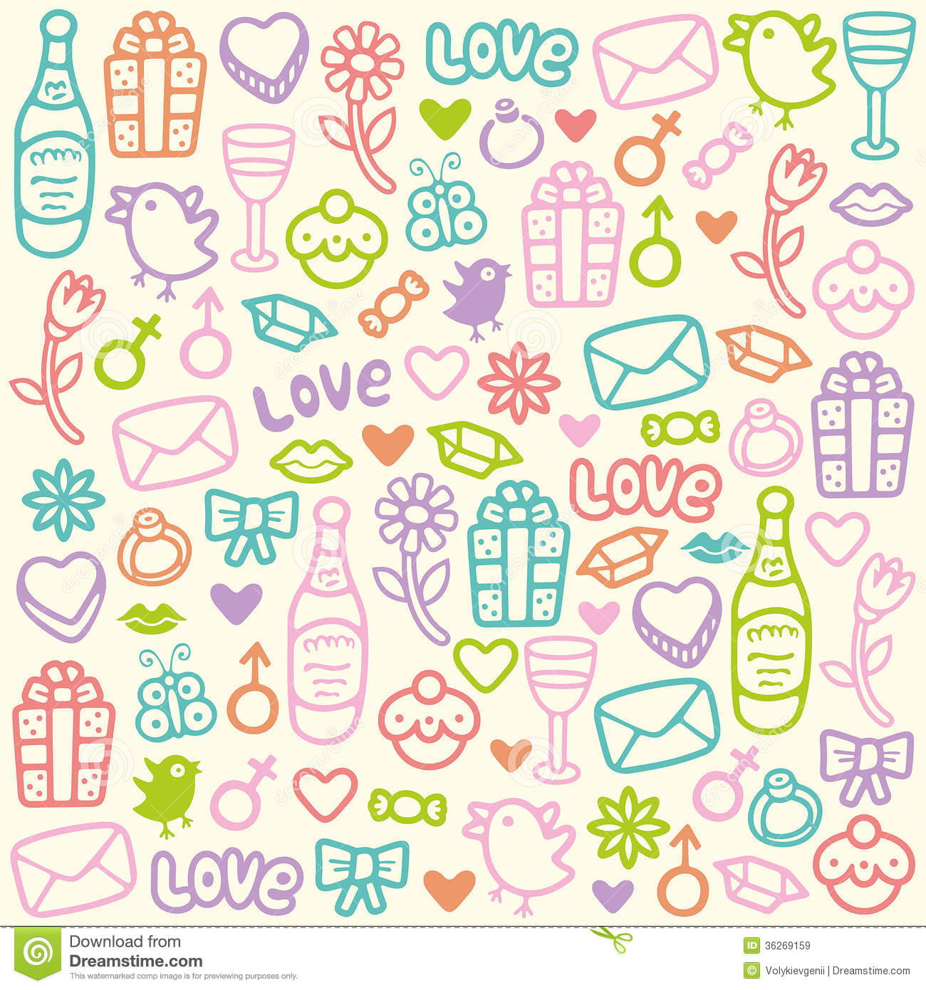 Love Pattern Royalty Free Stock Images - Image: 36269159