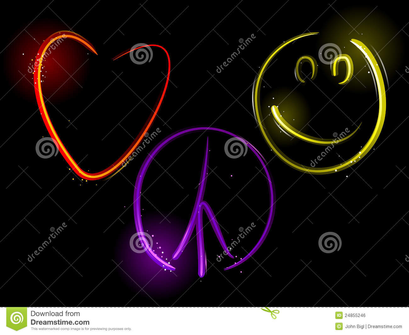 Love peace and happiness stock vector illustration of light 24855246 love peace and happiness biocorpaavc Image collections