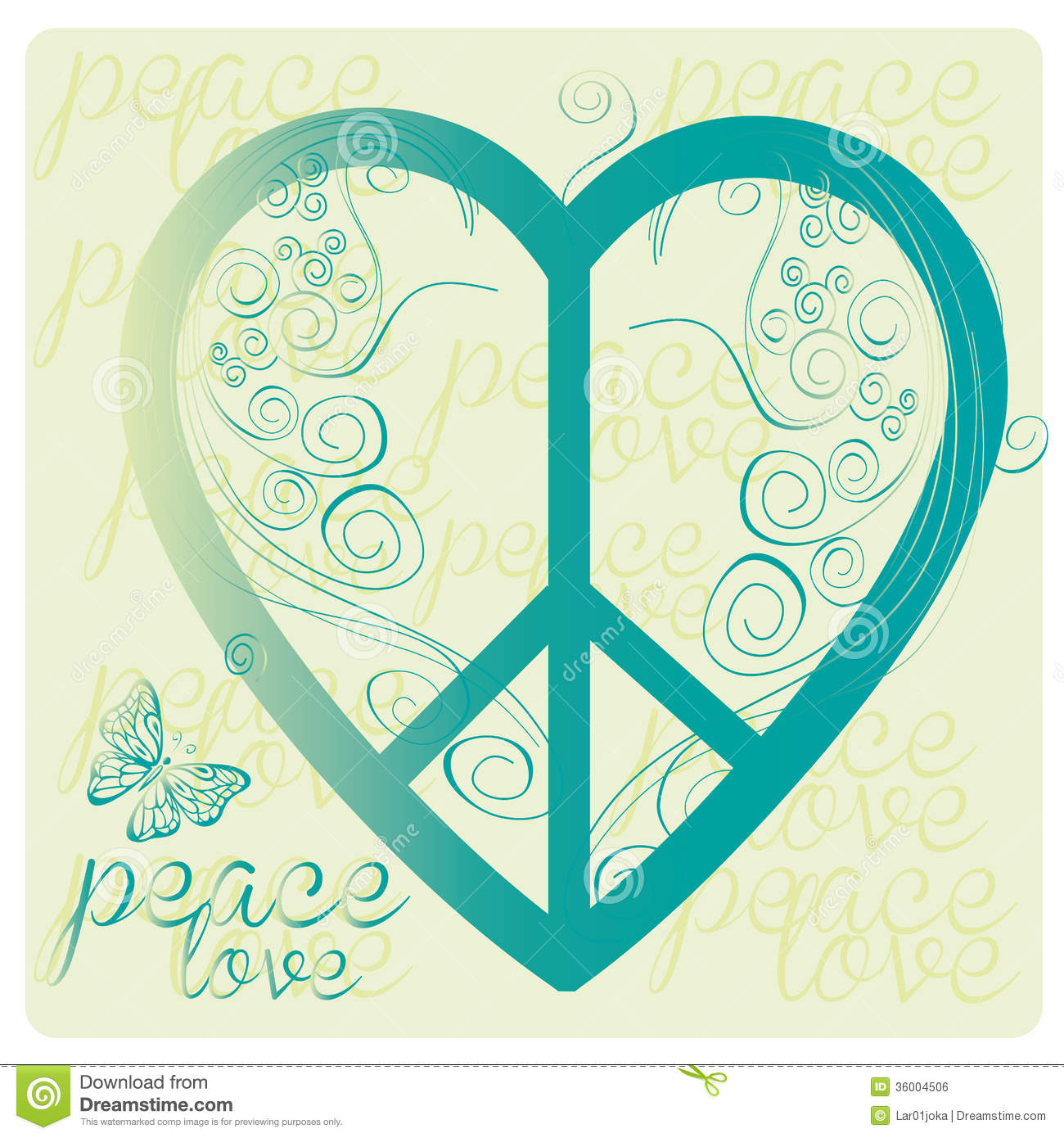 Love peace symbol stock vector illustration of gold 36004506 love peace symbol biocorpaavc