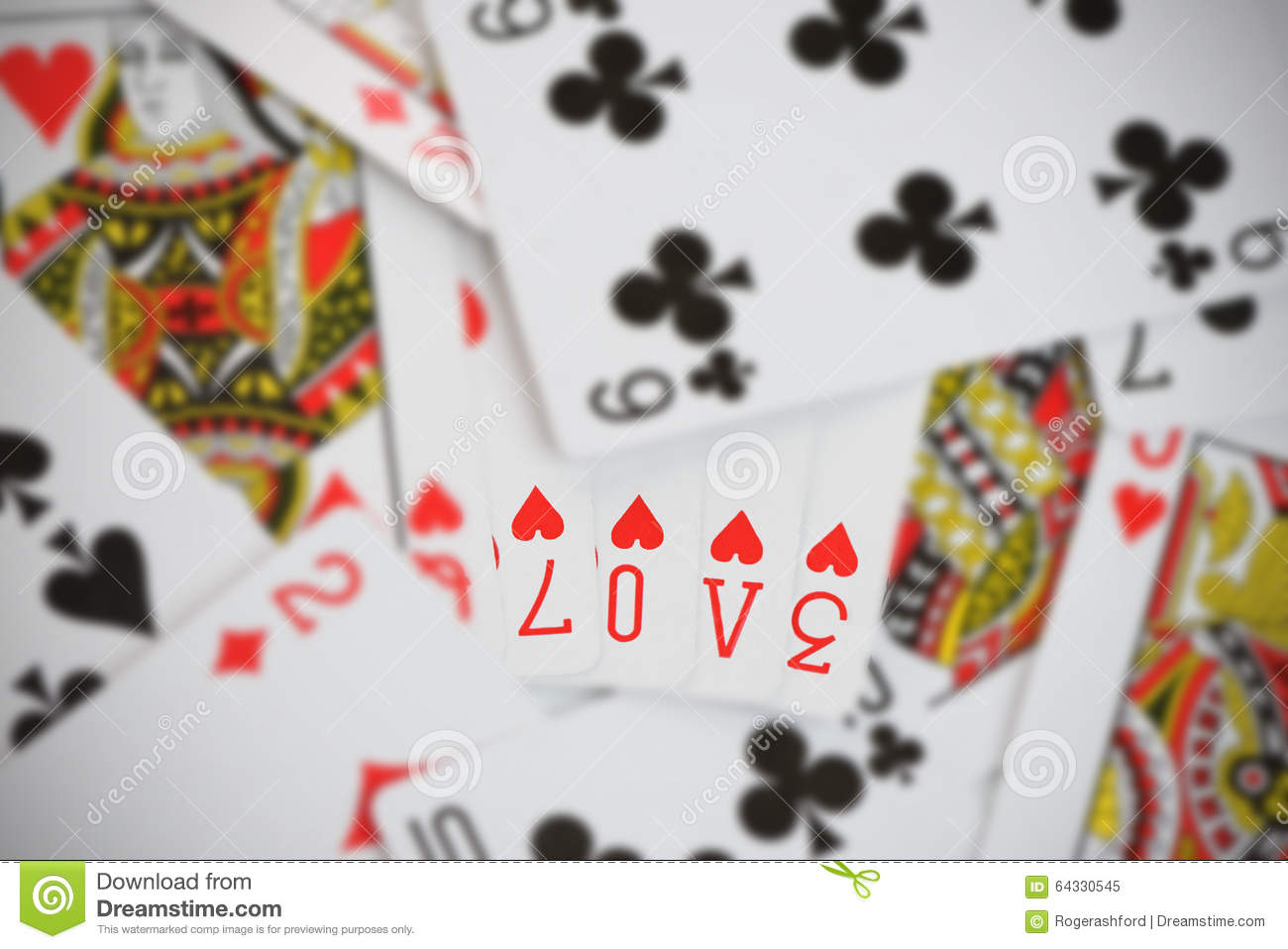 Love On Playing Cards Photo Image 64330545 – Valentine Playing Cards