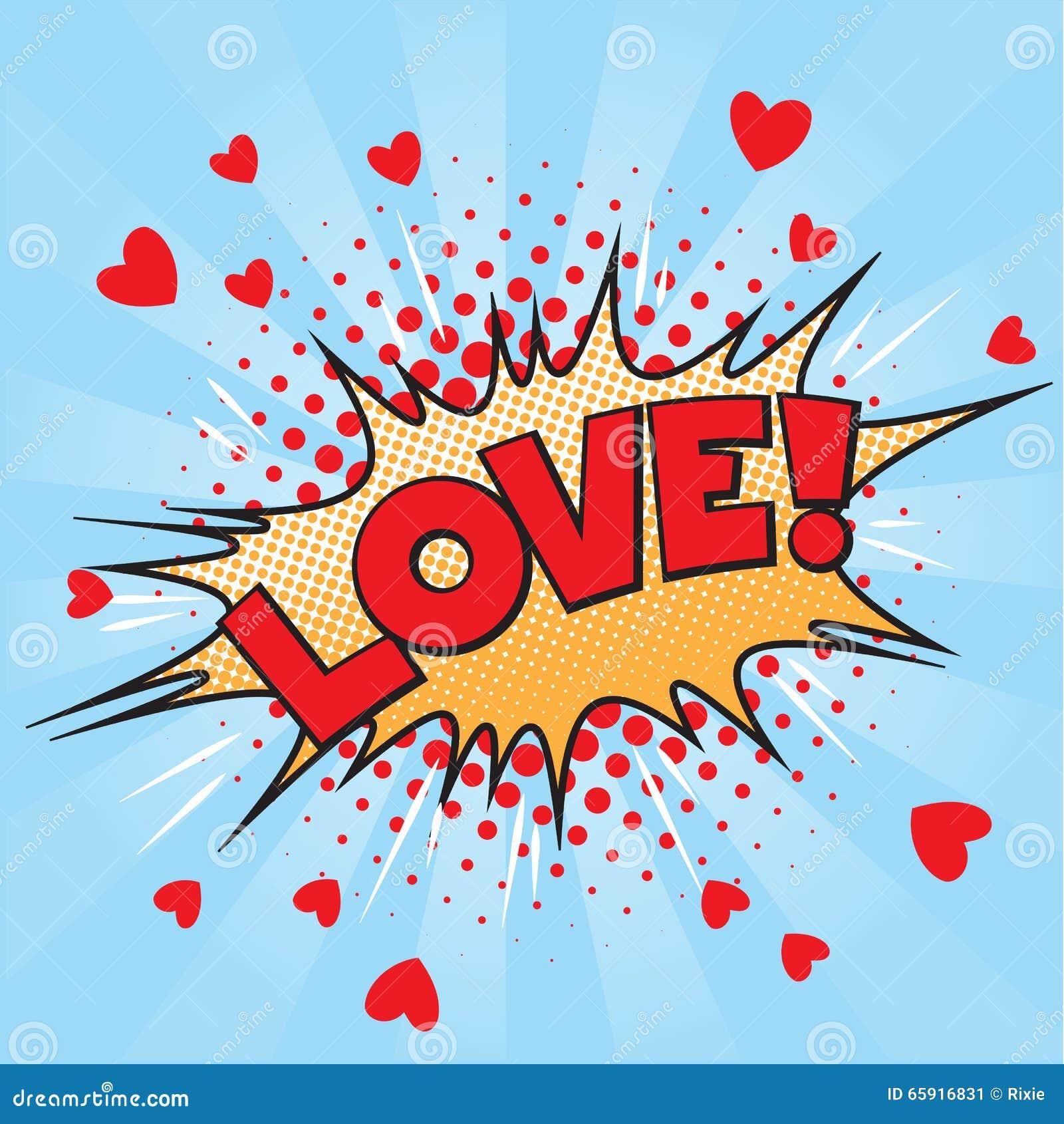 Love Pop Art Stock Vector Illustration Of Icon Cartoon