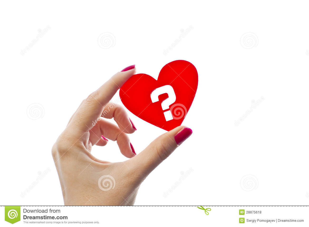 Red Heart Question Mark Love Symbol Stock Photos, Images ...