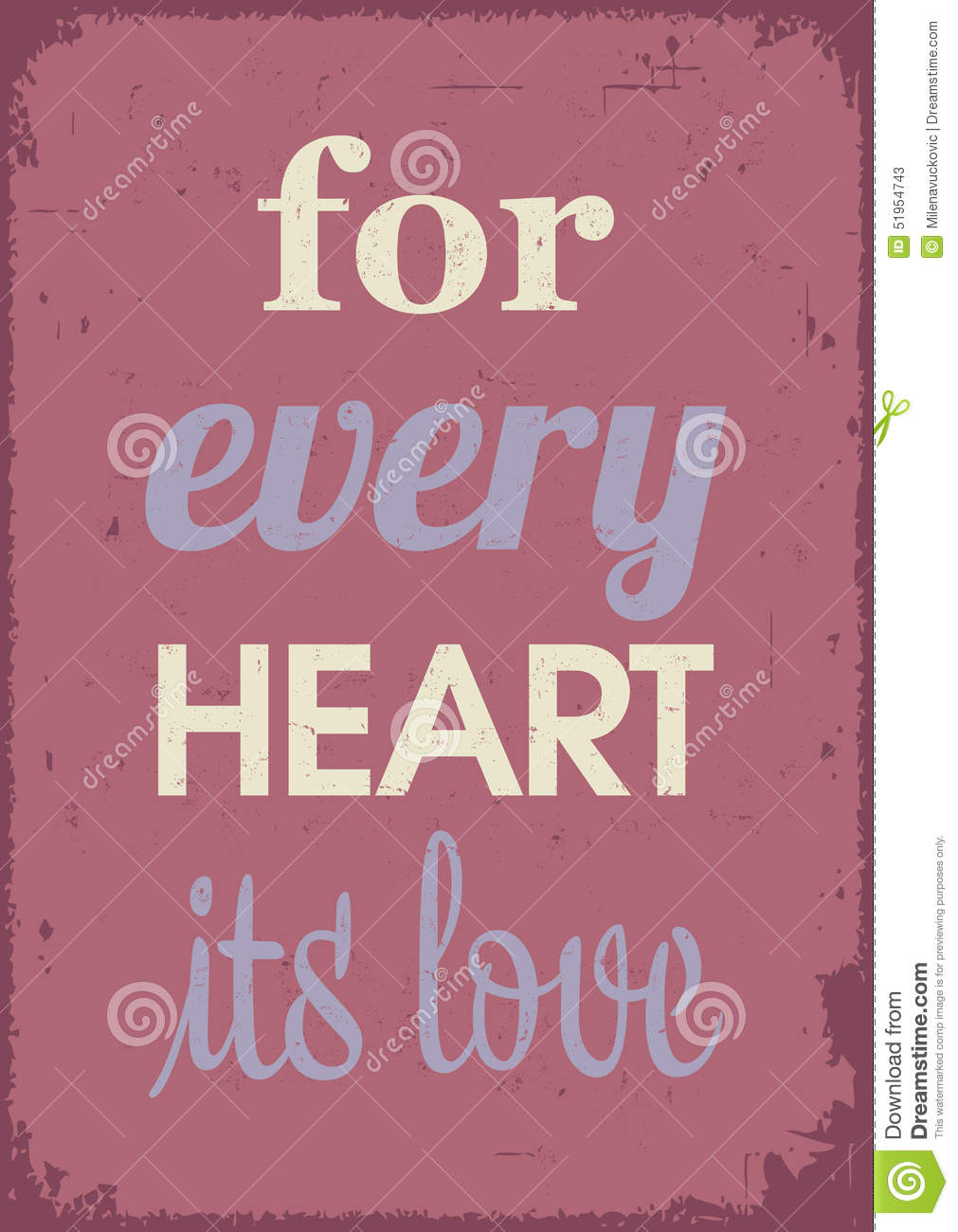 love quotes stock vector image 51954743