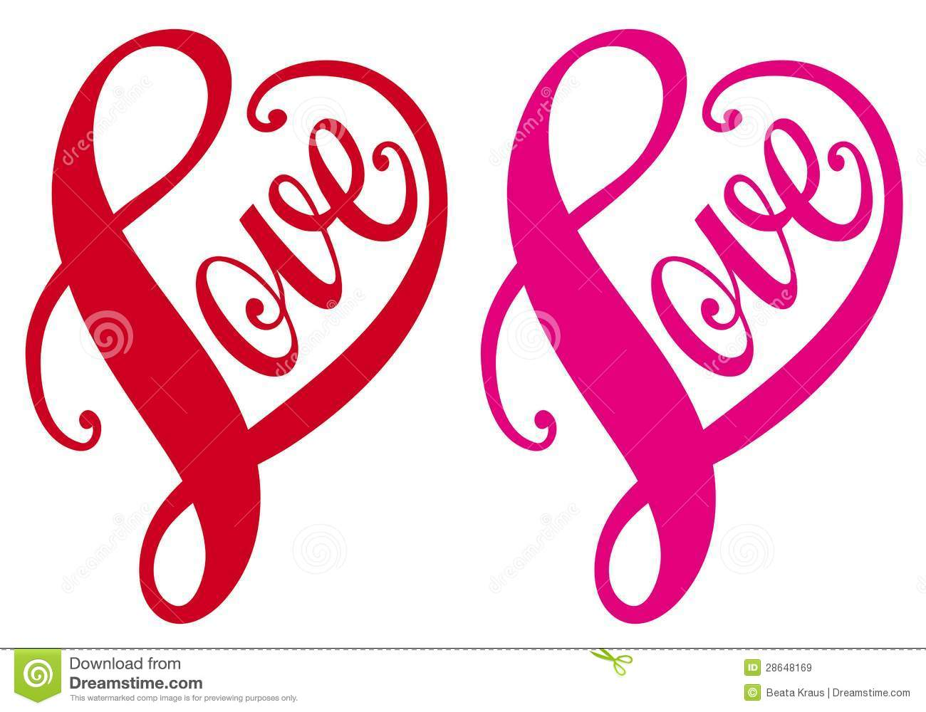 Love red heart design vector stock vector image 28648169 The designlover