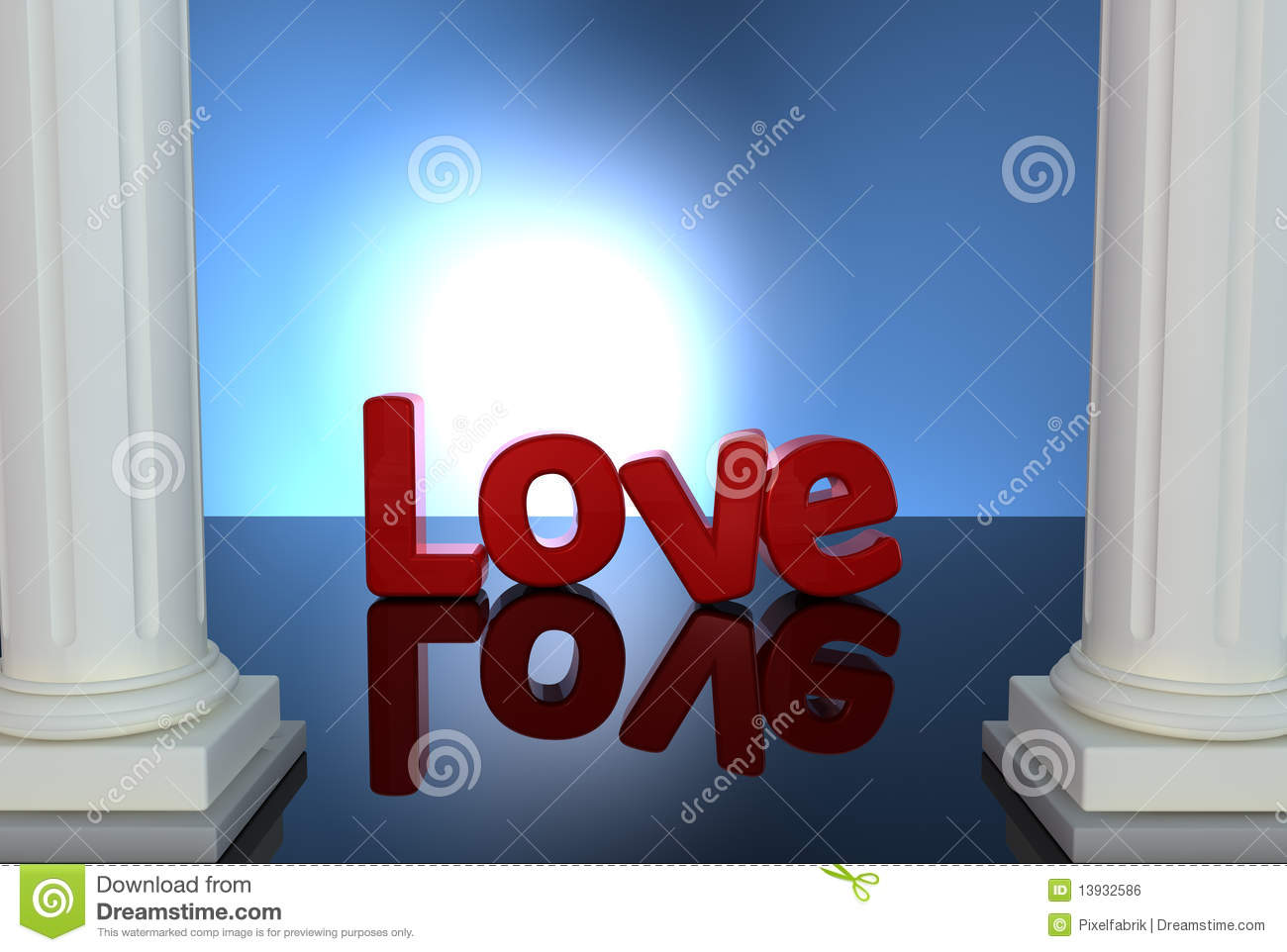 Love Red Letter Royalty Free Stock Image - Image: 13932586