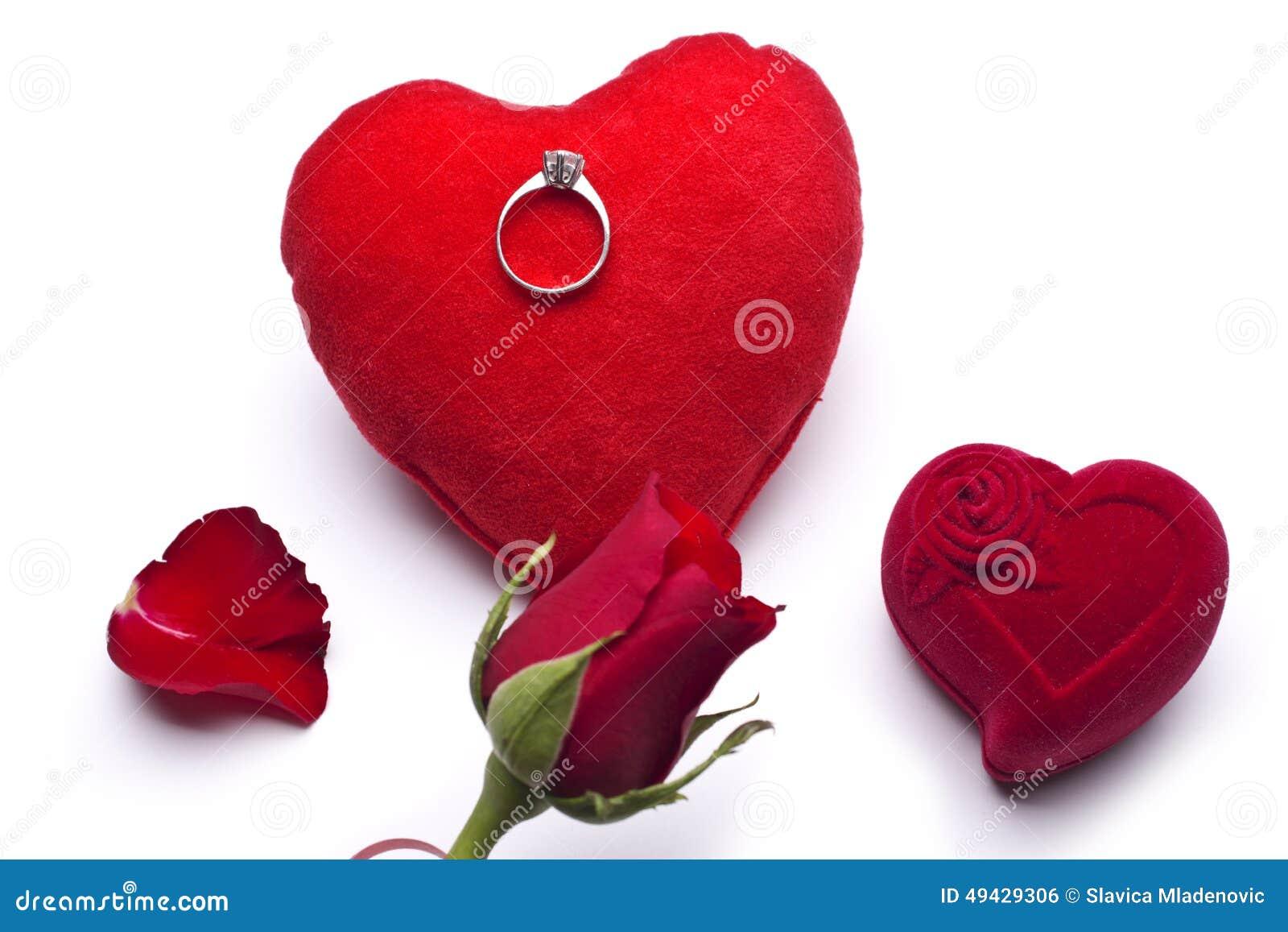 Red Heart Valentine Ring