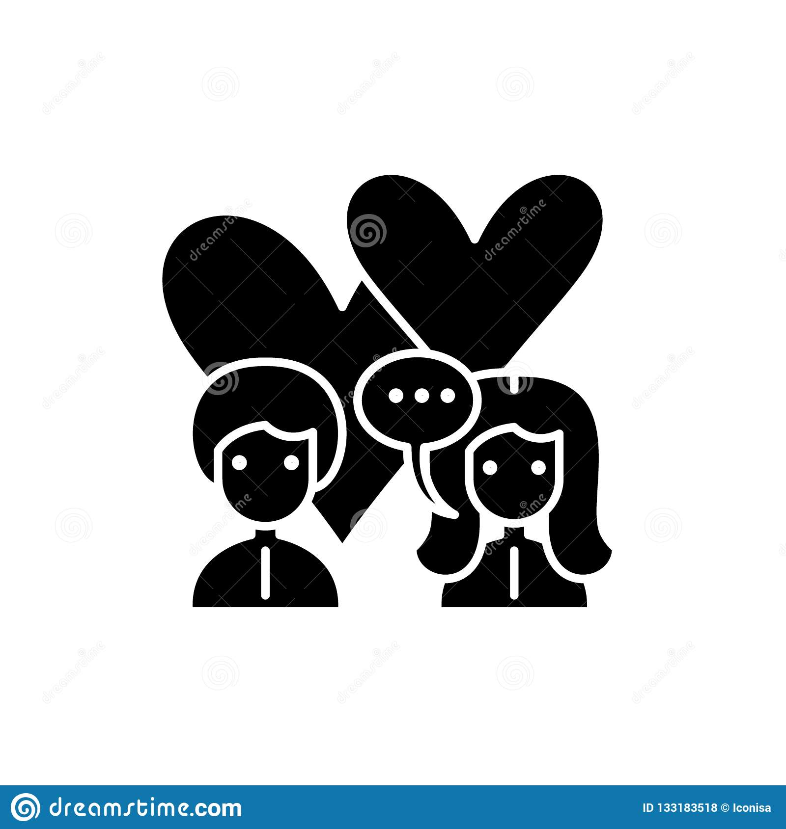 Love Relationship Black Icon Vector Sign On Isolated Background Love Relationship Concept Symbol Illustration Stock Vector Illustration Of Concept Card 133183518