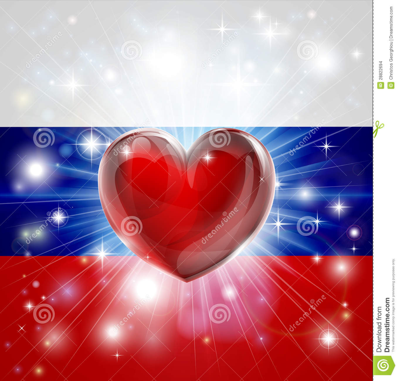 love russia flag heart background stock images image 28822694
