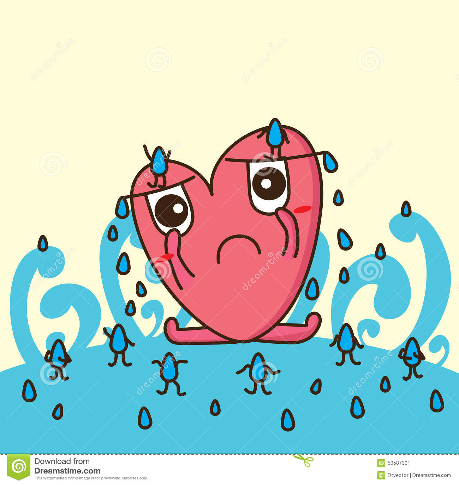 Love sad eye tear drop stock vector illustration of cute 59587301 download comp voltagebd Choice Image