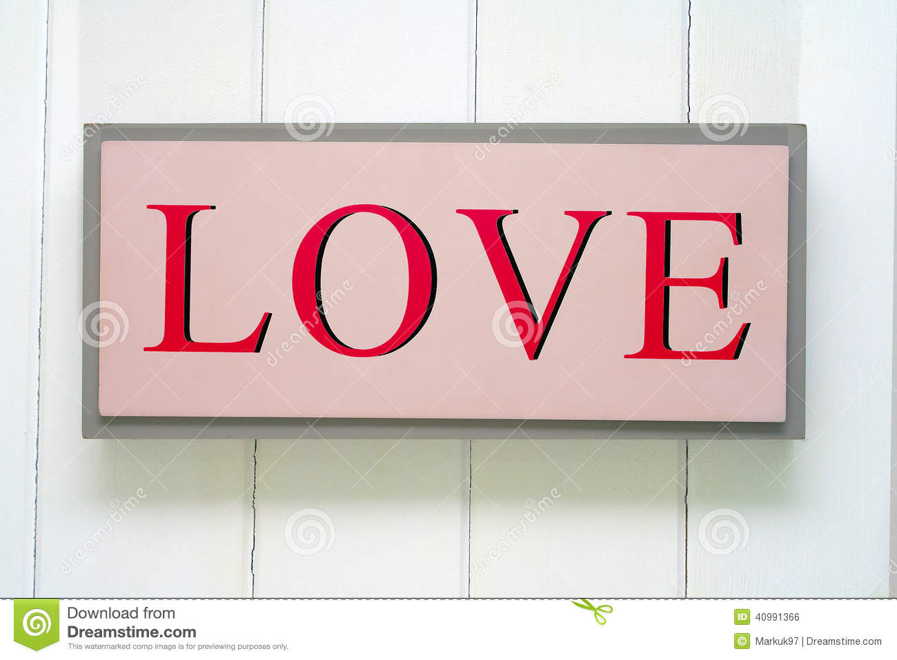 Love sign stock photo image 40991366 for Love sign