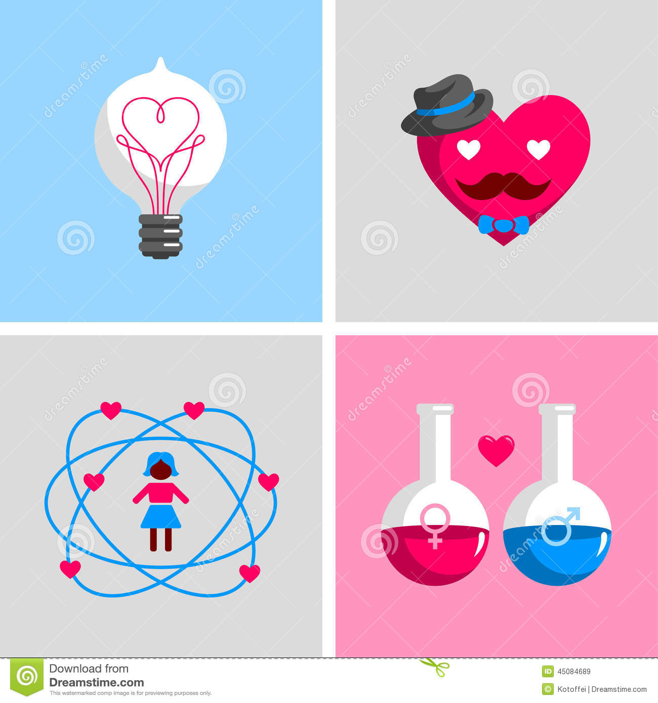 Love Signs And Symbols Stock Vector Illustration Of Creative
