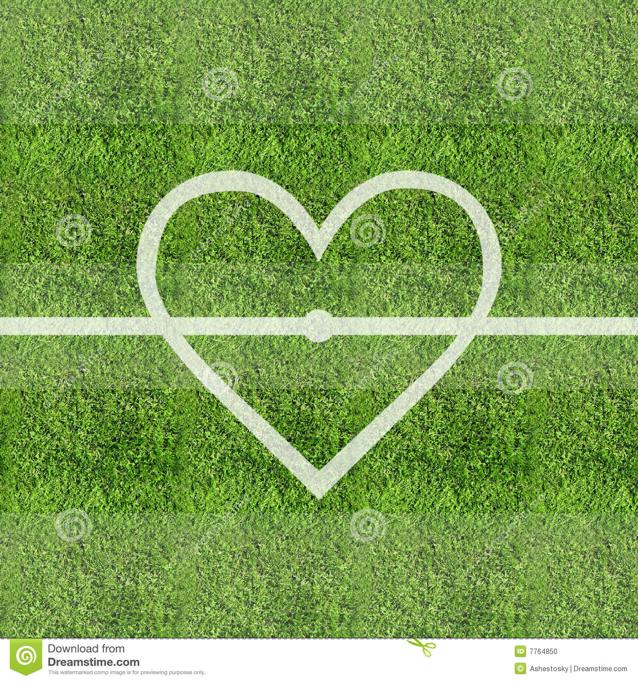 love soccer grass field background stock photo