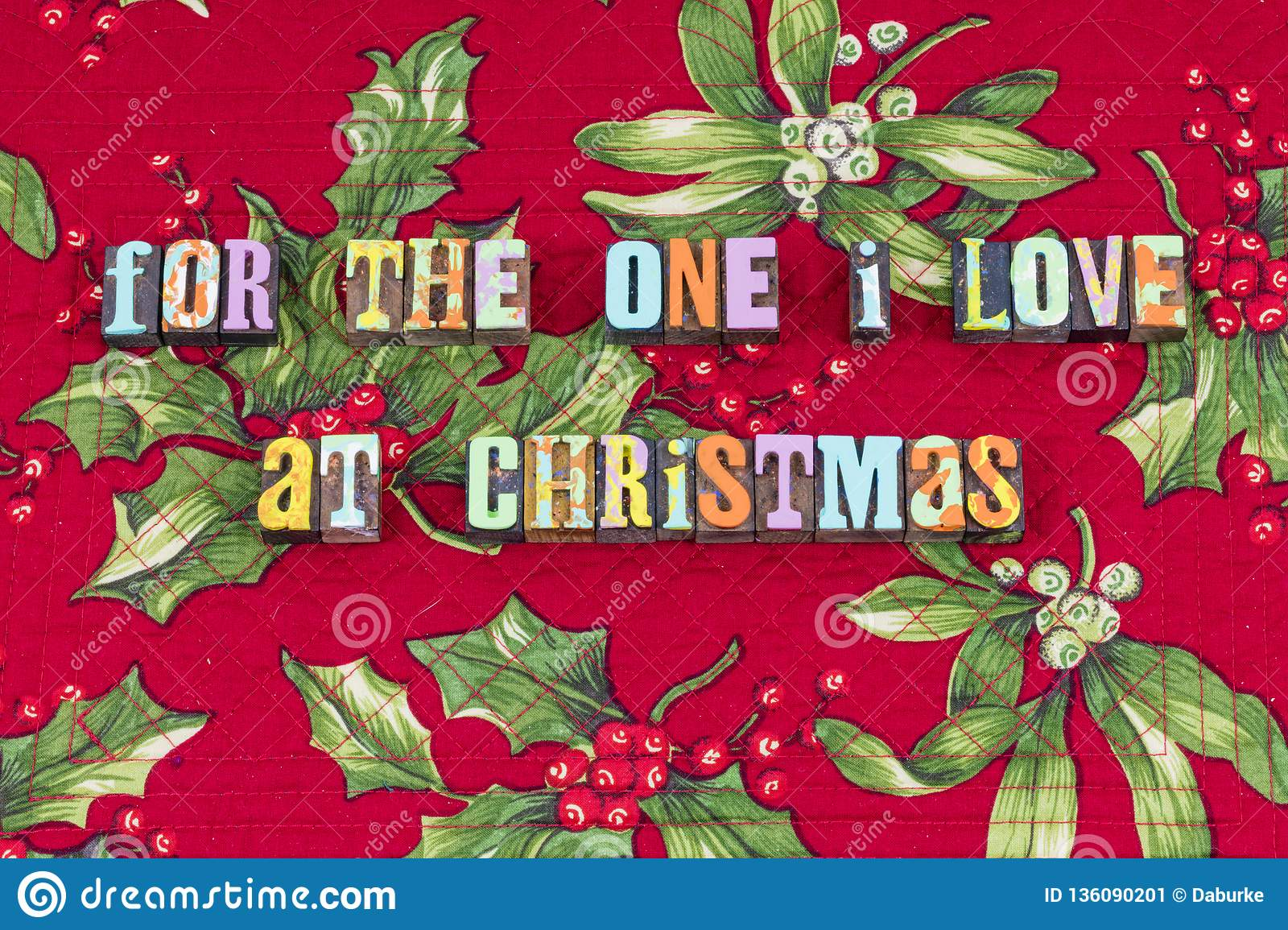 Love special Christmas family life typography