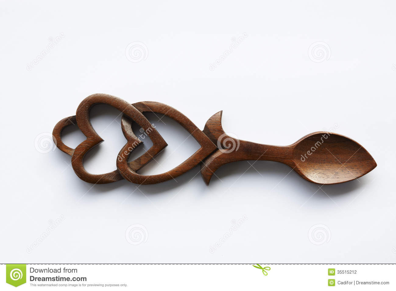Carved wooden Love Spoon made in Wales