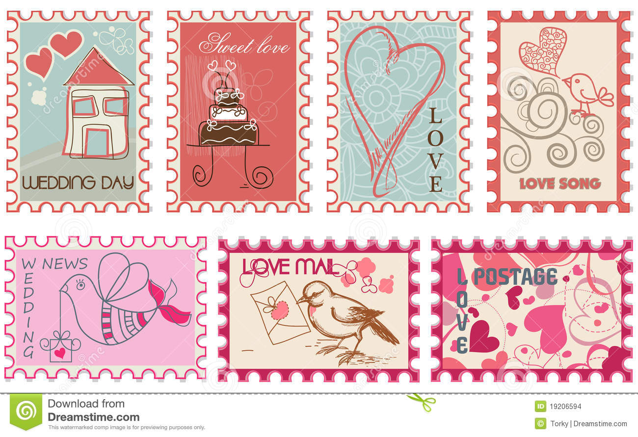 Love Stamps Stock Images - Image: 19206594