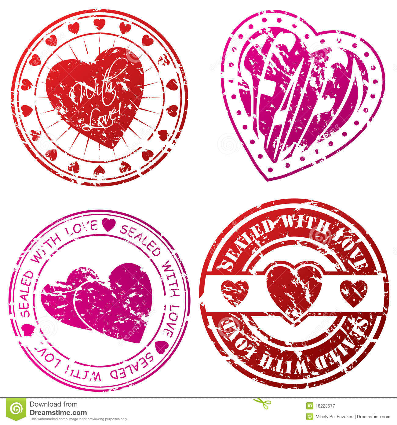Royalty Free Stock Photography: Love stamps for love letters