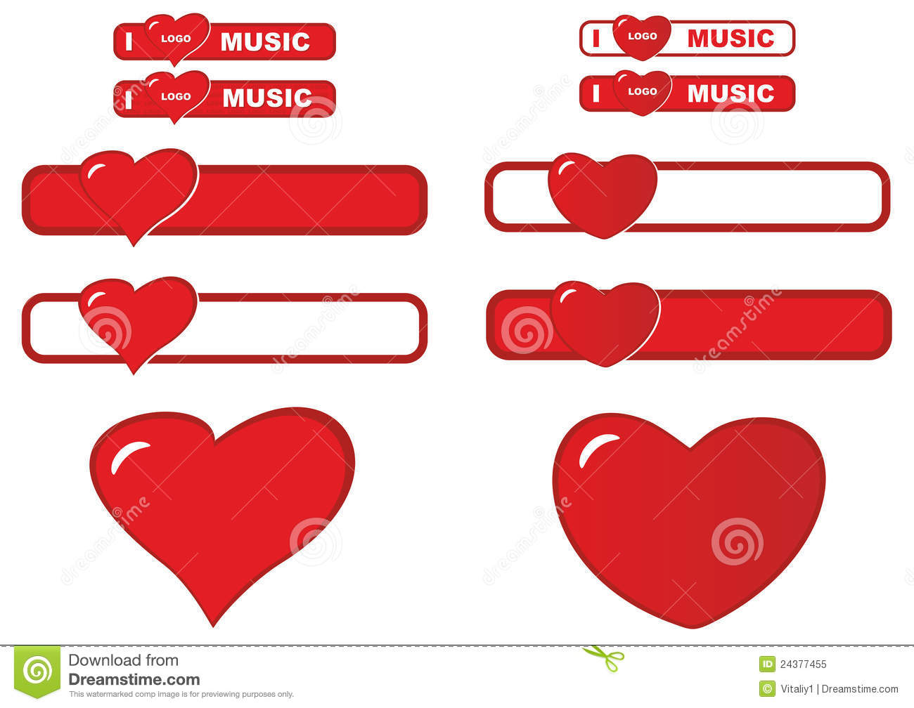 love sticker stock vector illustration of symbol emotions 24377455