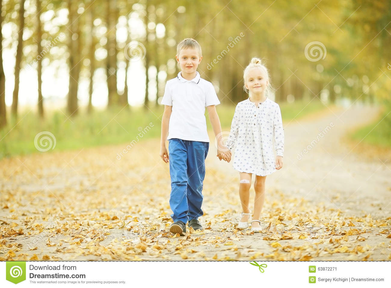 Love Story Children Boy And Girl Stock Image Image Of Hair