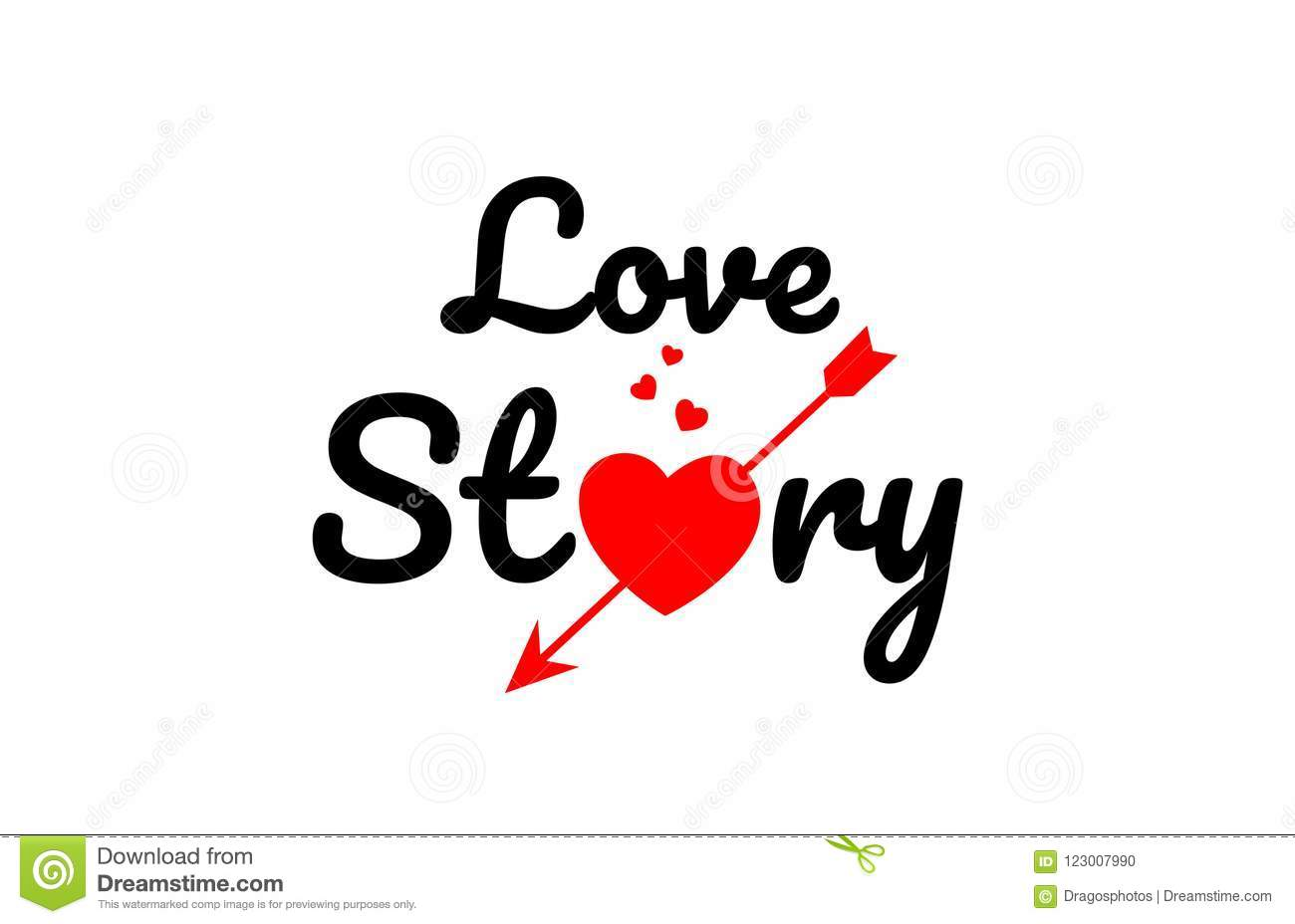 Love Story Word Text Typography Design Logo Icon