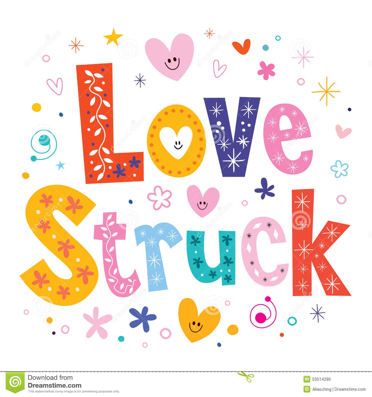 What kind of word is love-struck?