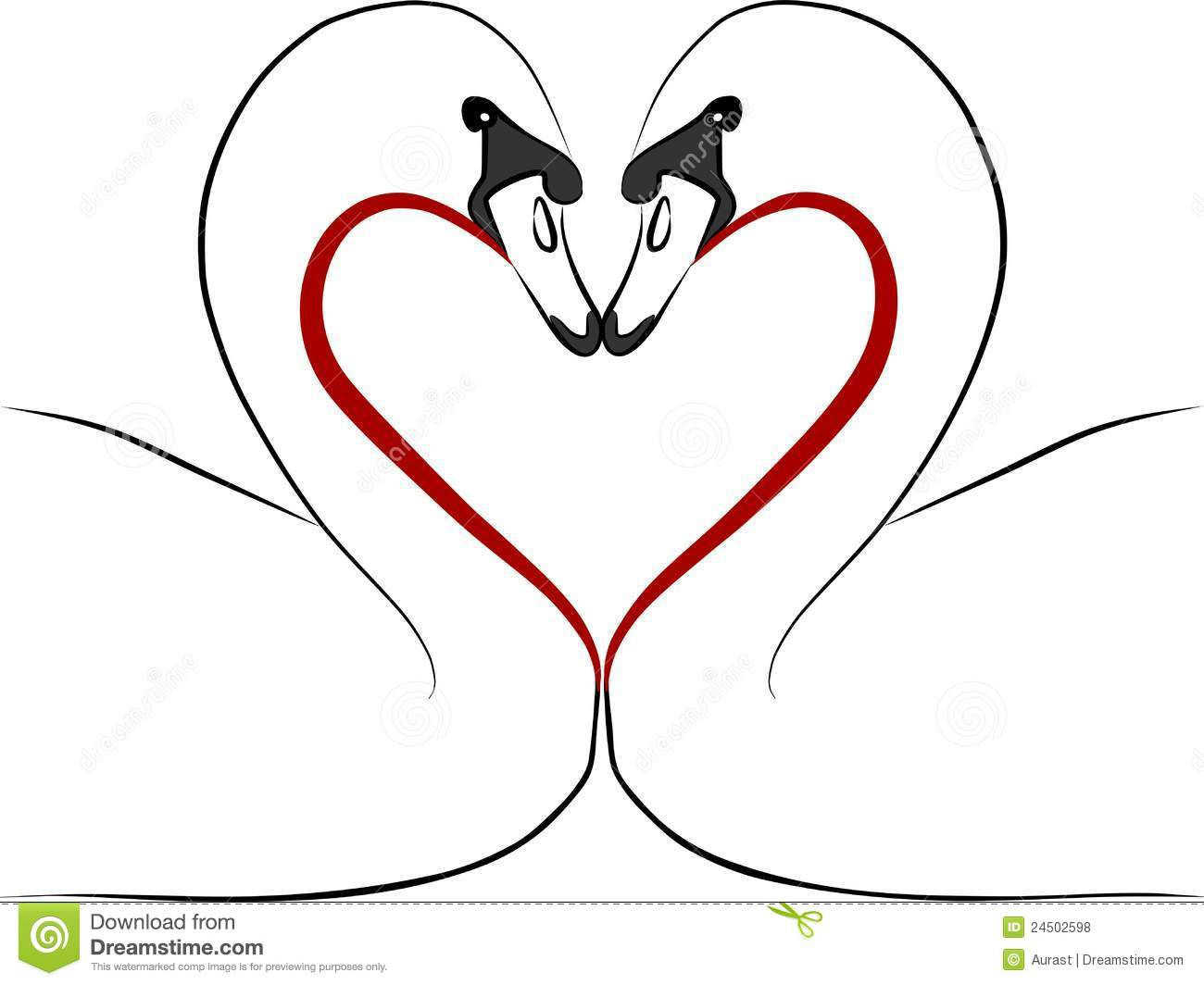 Swans In Love Clipart ...