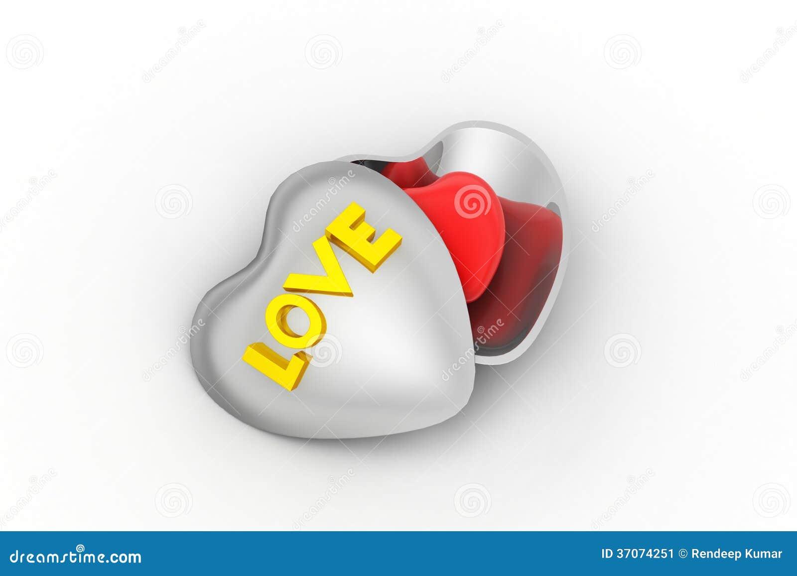 Love Symbol In A Box Stock Illustration Illustration Of Learning