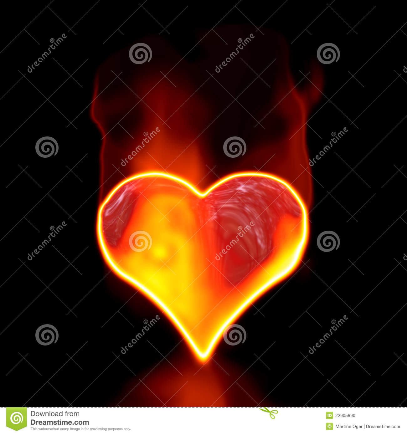 Love Symbol In Fire Stock Illustration Illustration Of Abstract