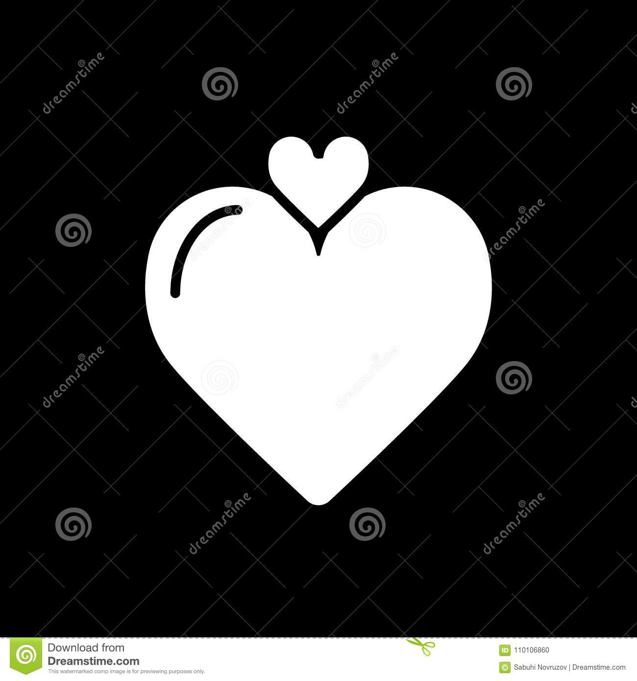 Love Symbol Heart Linear Icon Vector Illustration Eps10 Simple