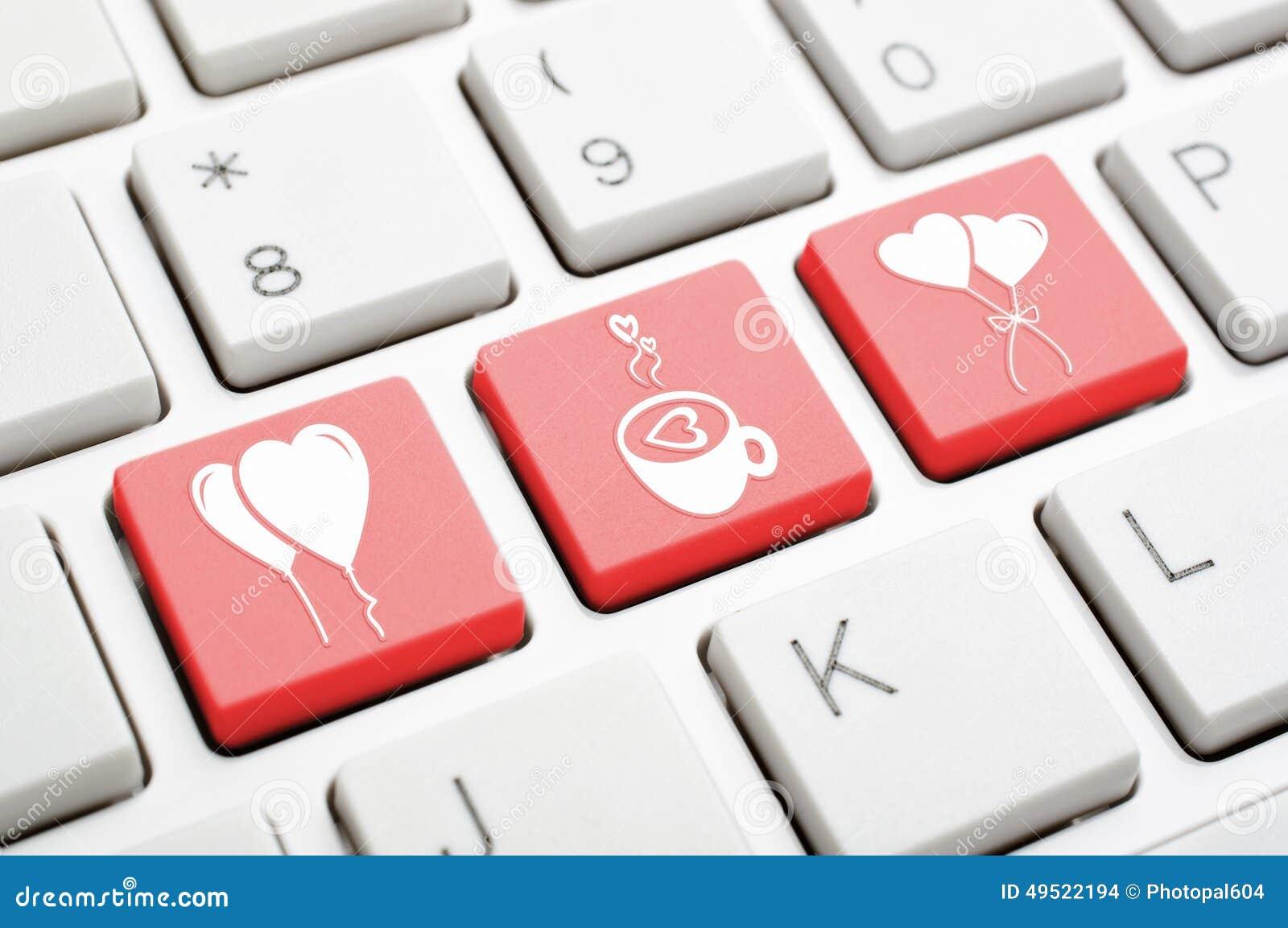 Love Symbol Key On Keyboard Stock Photo - Image of keypad, computer: 49522194