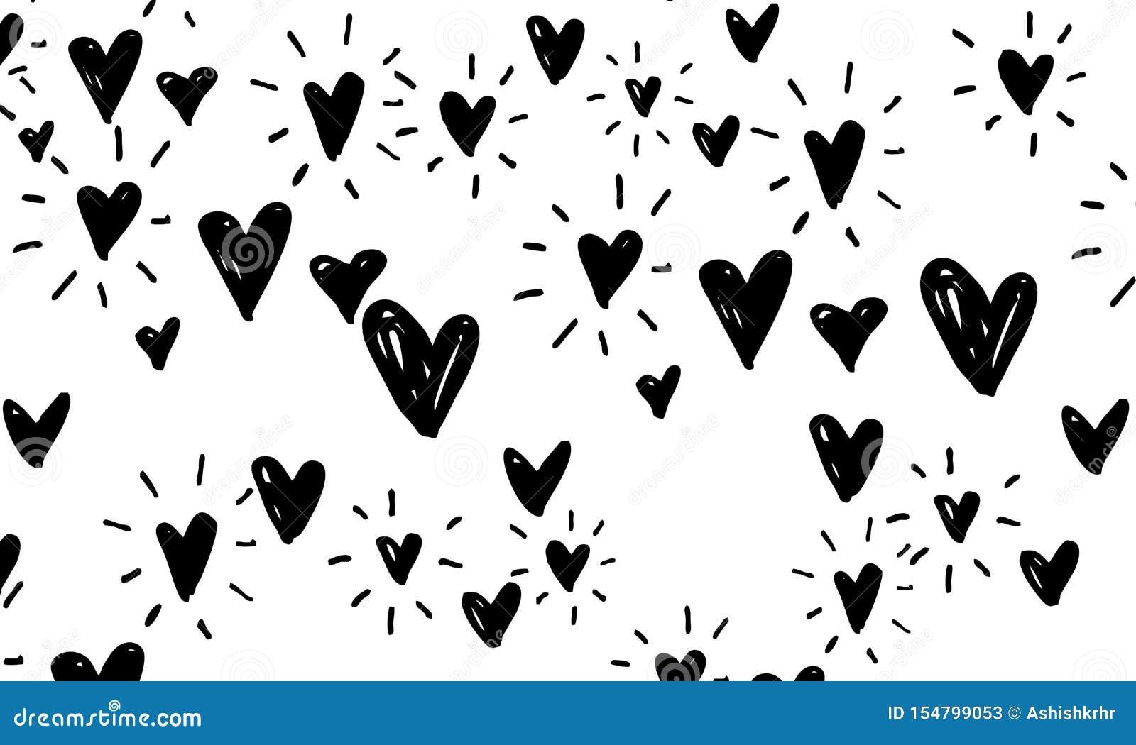 Love Symbol Pattern Hand Drawn Doodles Illustration Romantic