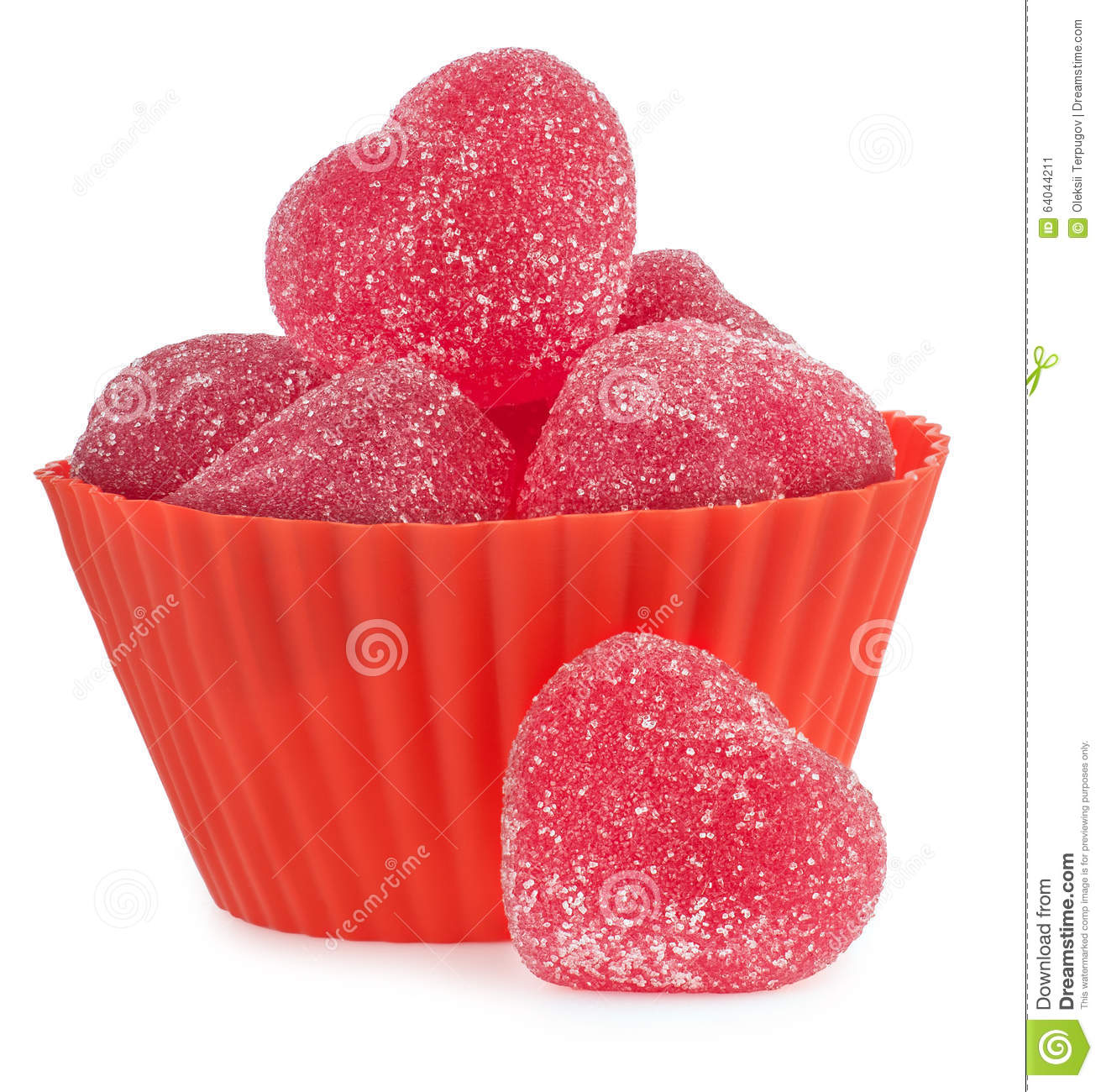 Love Symbol Red Jellies Heart With Sugar Stock Image Image Of
